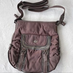 Roots Brown Crossbody Bag